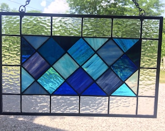 Tudor Style Stained Glass, Stained Glass Window, Stained Glass Panel, Sun Catcher