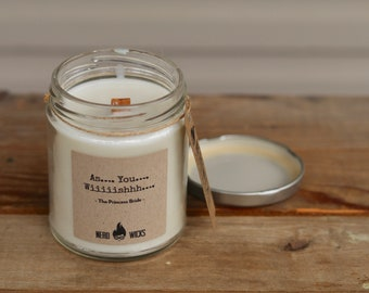The Princess Bride Inspired Soy Candle - Wild Elderberry Scent