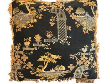 19th Century Chinese Silk Pillow