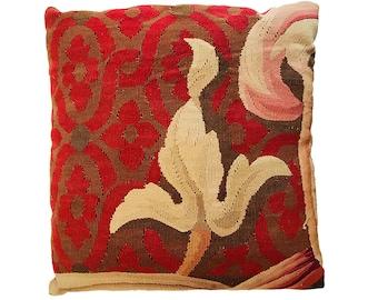 19th Century Aubusson Pillow