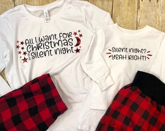 All I Want for Christmas is a Silent Night Shirt for Tired Mom 275e98c22