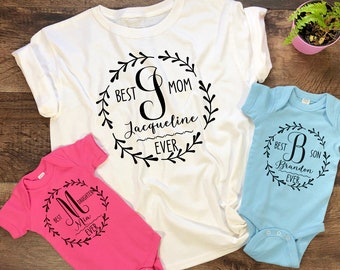 d3f29bfdbd Best Mom Ever Shirt. Personalized Mom Shirt. Matching Mommy Baby. One-Of-A- Kind-Gift. Mother's Day Gift. Mommy And Me T-shirt.