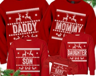 Ugly Christmas Sweaters. Matching Christmas Sweatshirts. Custom Family Christmas Shirts. Tacky Outfits. Bodysuit. Toddler Youth Kids Adult.