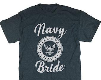 Bride To Be. Bachelorette. Bridal Party Shirt. Navy. Bride T-Shirt. Bride Tshirt. Navy Bride Shirt. Bride Tank.