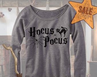 Halloween Hocus Pocus Off Shoulder. Wideneck Hocus Pocus Shirt. Halloween party. Funny Halloween Shirt. Hocus Pocus Witches. Fleece.