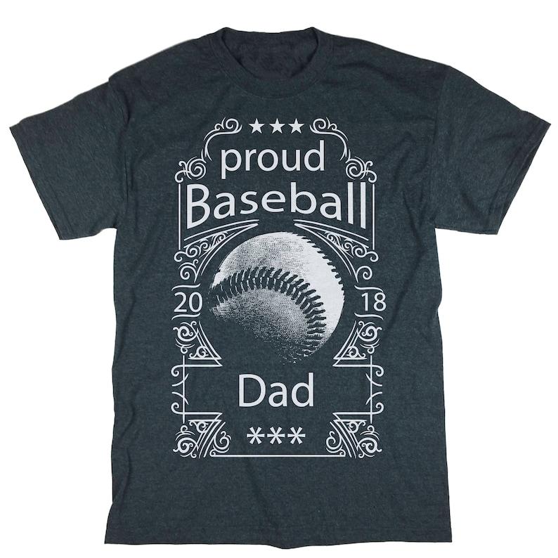 709d84cf Proud Baseball Dad Shirt. Baseball Dad T-shirt. Father   Etsy