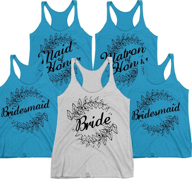eba91b6697ac6c Bride Tank Top. Bridesmaid Tanks. Maid Of Honor Shirt. Matron