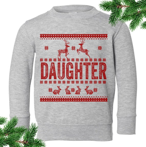 Christmas Vacation Sweaters.Daughter Sweater Christmas Vacation Sweater Ugly Sweatshirt Pullover 2t 3t 4t 5 6 7 Christmas Toddler Sweatshirt