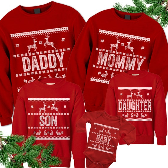Custom Christmas Sweaters.Ugly Christmas Sweaters Matching Christmas Sweatshirts Custom Family Christmas Shirts Tacky Outfits Bodysuit Toddler Youth Kids Adult