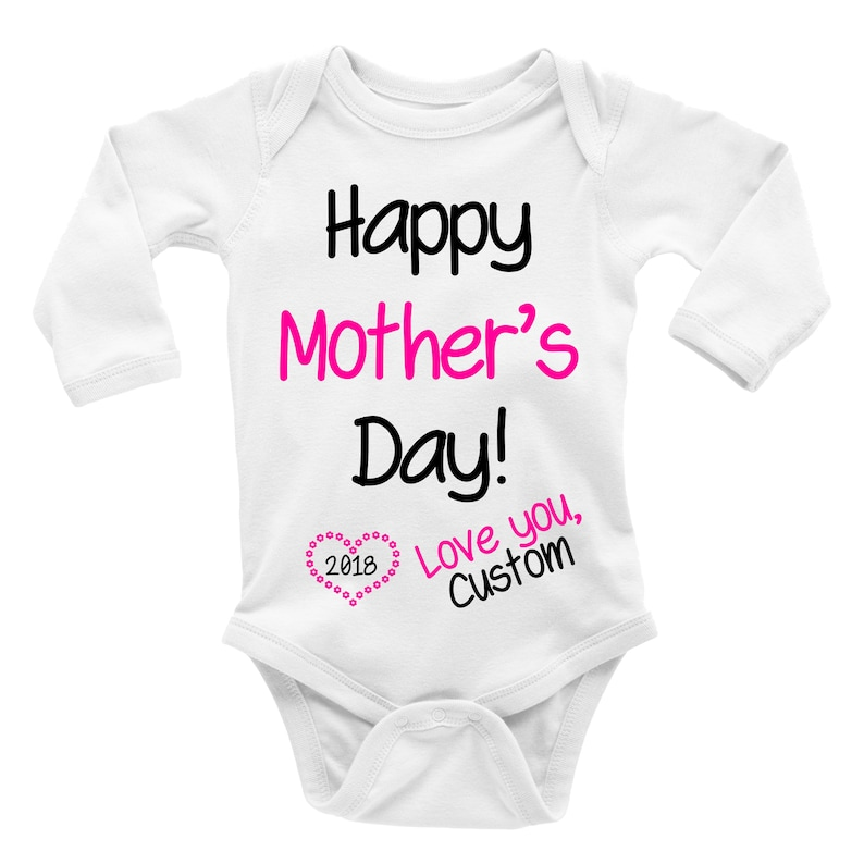 Happy Mother/'s Day 2019 Girl Baby Bodysuit Custom Gift. Custom Bodysuit Personalized Bodysuit Boy Cloth Love You Mother/'s Day