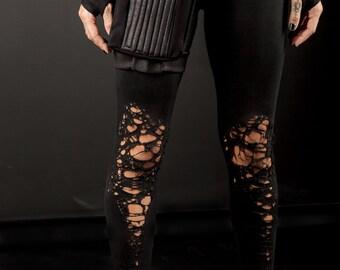 579e4a9ae34aeb Shredded leggings | Etsy