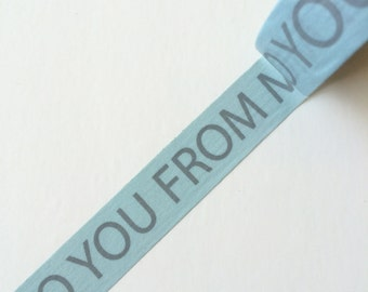 15mm x 10m washi masking tape -  blue, gray, To you from me (Yu)