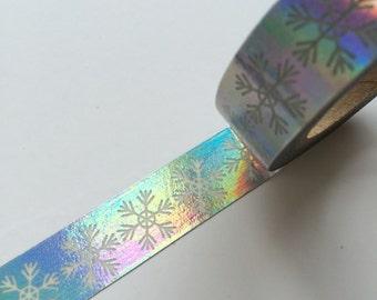 15mm x 10m washi masking tape - sliver, snow (YU)