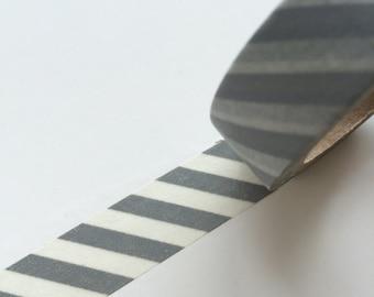 15mm x 10m washi masking tape - gray (YU)