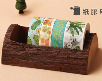 Limitate wood Washi Tape Case / Masking Tape Organizer / Tape Holder
