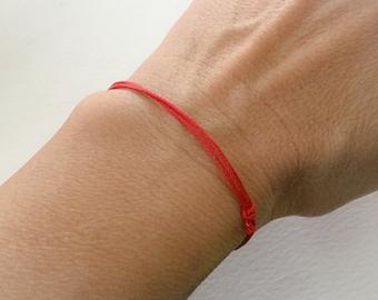 Red String Bracelet. Evil Eye Bracelet. Kabbalah. Protection. Amulet. Adjustable. Dainty. Men. Women. Boys. Girls. Stacked Bracelet.