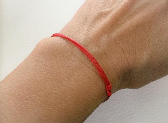 minimalist red bracelet Red cord bracelet friendship bracelet woman red string bracelet adjustable men bracelet macrame bracelet