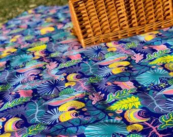 Around Oz Collection - Rainforest Picnic Blanket (matching border print)