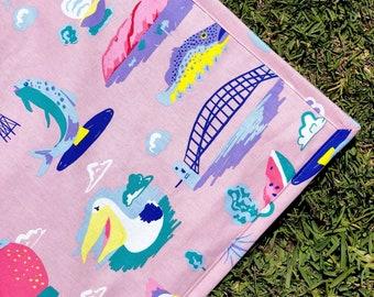 Around Oz Collection - Big Things Picnic Blanket (matching border print)