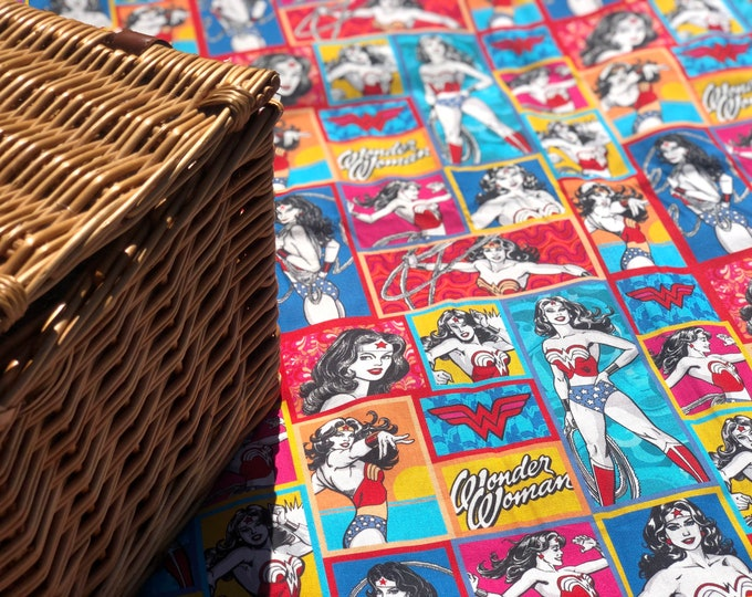 Featured listing image: Wonder Woman Picnic Blanket