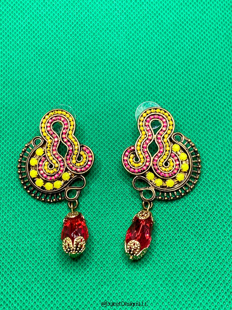 Super Fun and Colorful Boho Acrylic Rhinestong Earrings