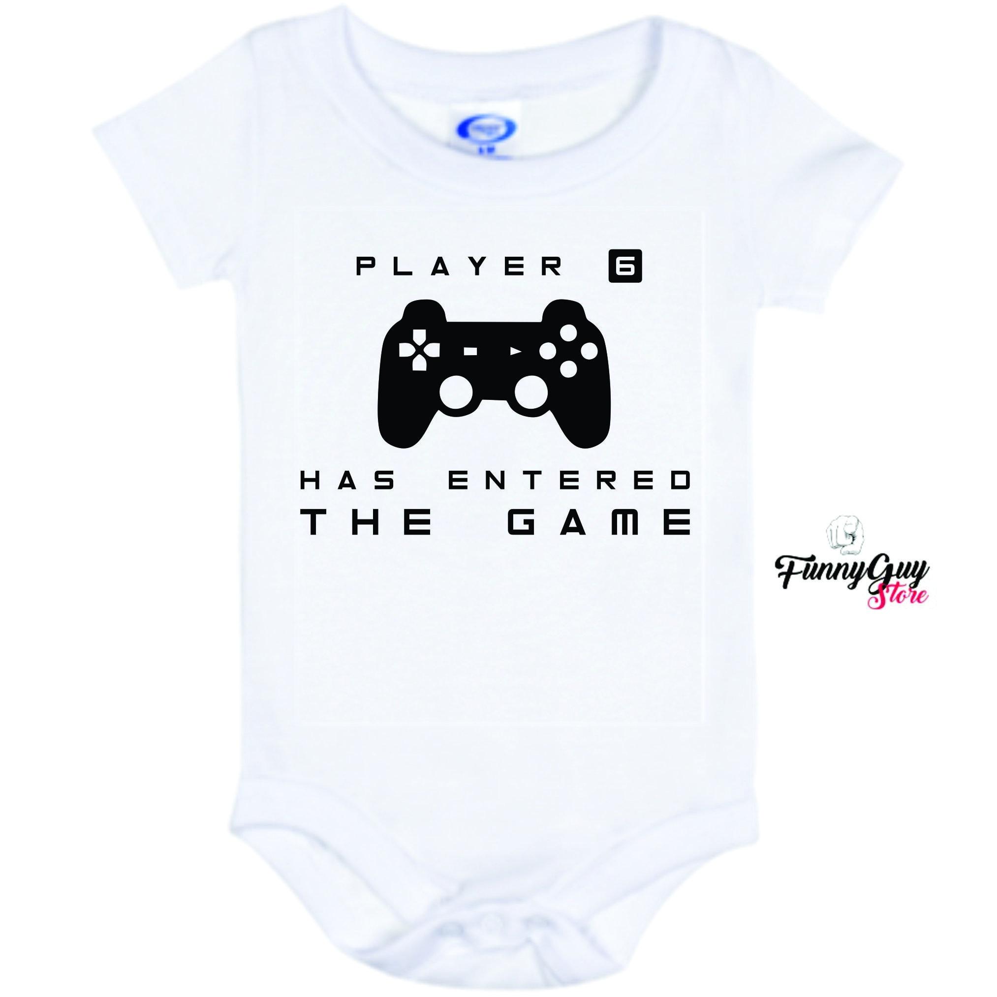 Baby Gift Player Five Has Entered The Game Baby Onesie Cool Baby Onesie Best Bodysuits Baby Bodysuit Funny Baby Bodysuite
