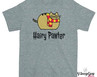 Funny Cat Shirt Hairy Pawter Cat Tshirt Cat Shirts Best Cat Lover Gift Gift For Her Girlfriend Gift Women Cat Tshirt Trippy Cat Shirts