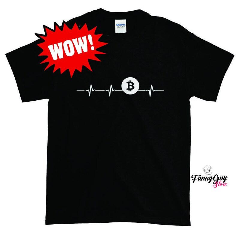 9c1f56f10 Bitcoin T-shirt Bitcoin Heartbeat Tee Crypto Trader Shirt   Etsy