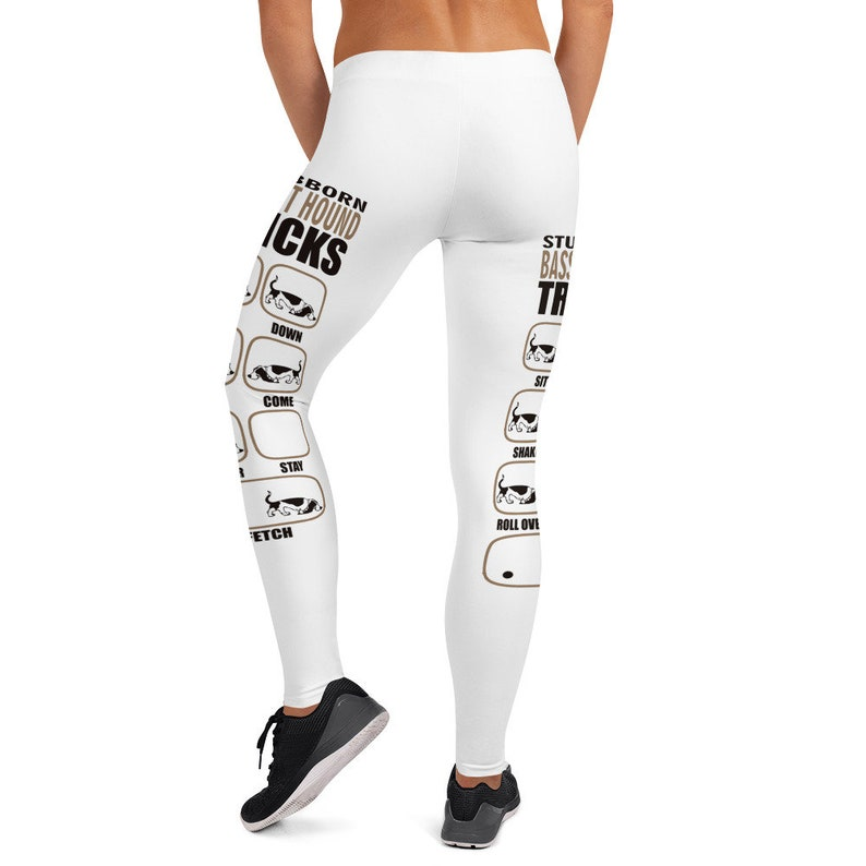 Runner Pants Yoga Pants Stubborn Basset Hound Tricks Fitness Leggings Jogging Leggings Basset Hound Dog Basset Hound Leggings