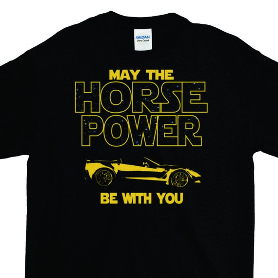Fast Car T Shirt Guy Gift Cool Horse Power