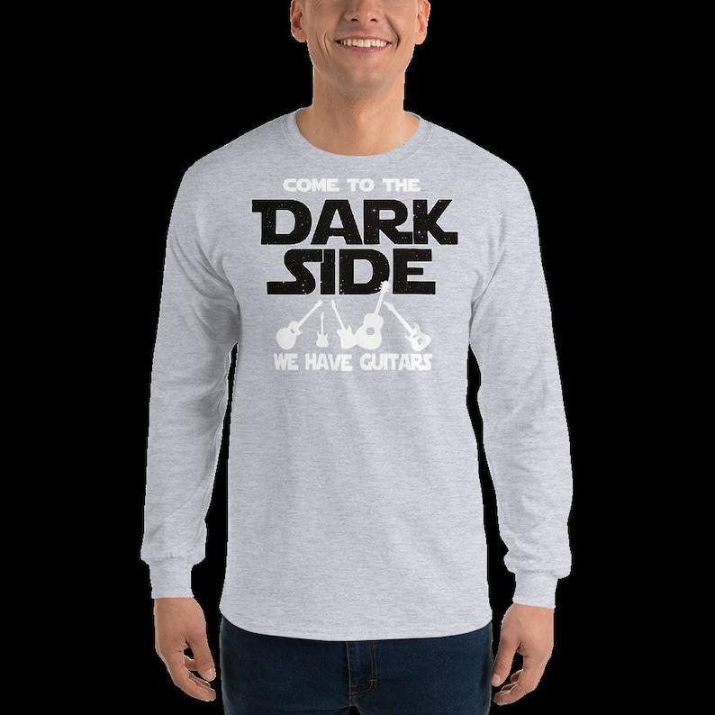 Funny Guitar Shirt Guitar Sweatshirt Come To The Dark Side Sci Fi Fan Guitarist Clothing Guitar Player Long Sleeve Shirt