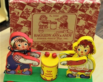 Fisher Price Raggedy Ann and Andy Reproduction Pull Toy