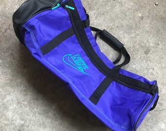 Vintage 90s Nike gray tag big duffle gym bag