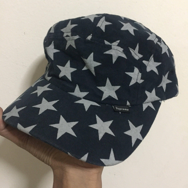 186d52f23df Vintage 2000s Supreme Star Curved Bill 5 Panel Camp Cap Rare