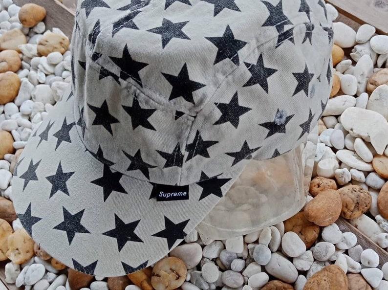 53c92d605c7 Vintage 2000-2001 Supreme Star 5 Panel Camp Cap OG Rare A