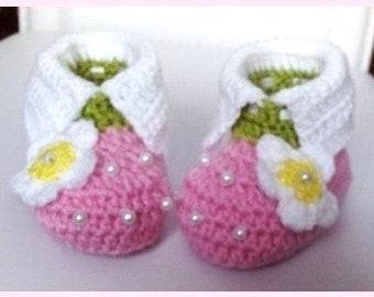 Erdbeere Babyschuhe Gehäkelt Babyschuhe Häkeln Baby Booties
