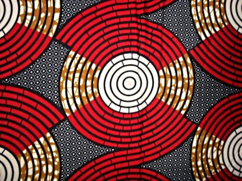 African Fabric  Ankara Fabric  Wax Print Fabric  African Cloth  6 yards  100/% Cotton Red Yellow