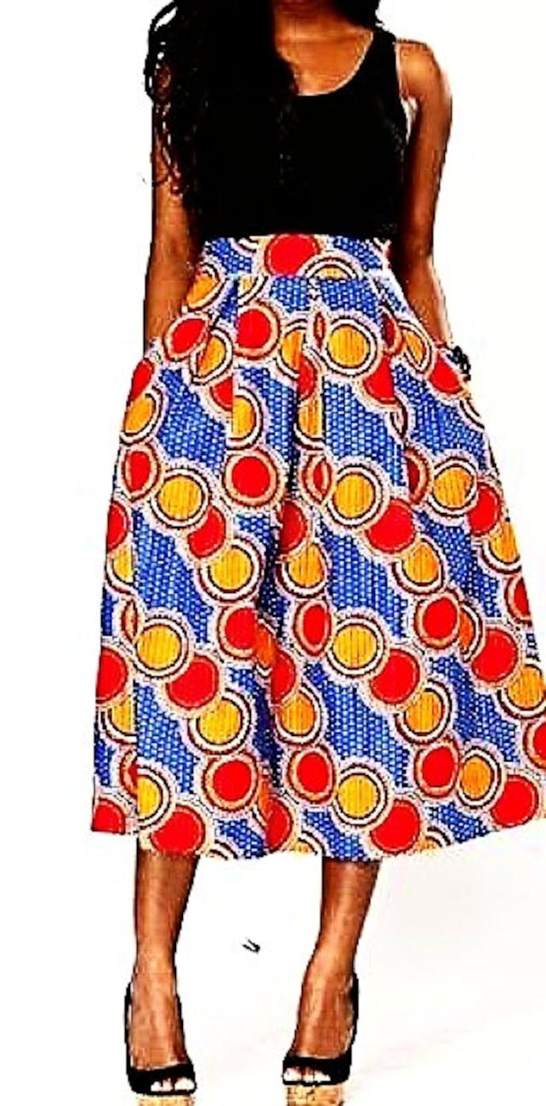 African Fabric  Ankara Fabric  Wax print fabric  African cloth  6 yards 45 in Red Blue wide