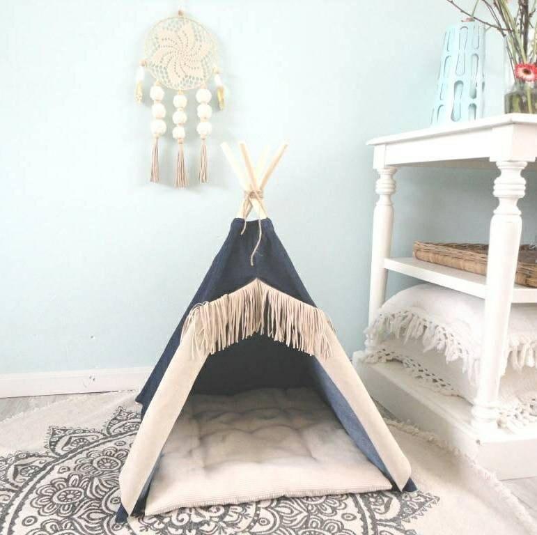tipi pour animaux de compagnie y compris coussin maison de. Black Bedroom Furniture Sets. Home Design Ideas