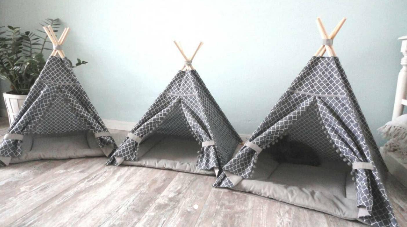 tipi pour animaux de compagnie en trois tailles y compris. Black Bedroom Furniture Sets. Home Design Ideas