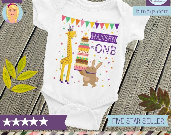 SALE!Custom Name Birthday Baby Bodysuit, Personalized First Birthday, 1st Birthday Onsie, Birthday Outfit, Birthday Bodysuit, Birthday Shirt