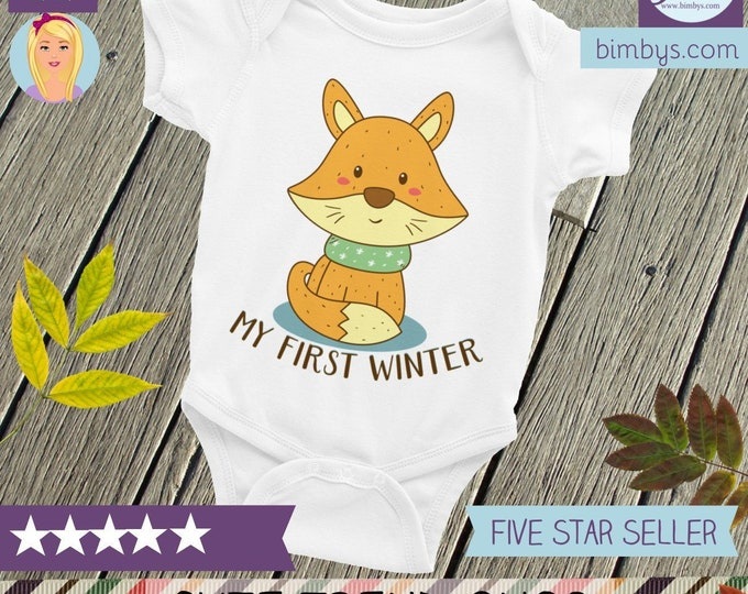 First Christmas Onsie, Baby's First Christmas, Winter Onsie | First Christmas Shirt, My First Winter Baby Nappy, Infant Bodysuit |