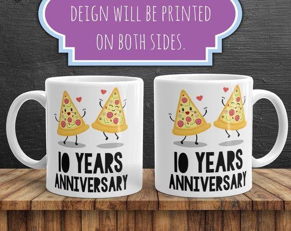 10th Anniversary Mug | 10 Year Anniversary Gifts | 10 Year Anniversary  | Anniversary Gift | Ten Year Anniversary Gift | Wedding Anniversary
