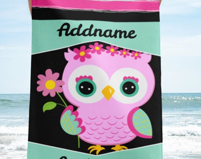 Gifts for Kids Kids - Personalized Beach Towel |  personalized towel - bath towel - monogrammed towel - monogram towel - kid beach towels