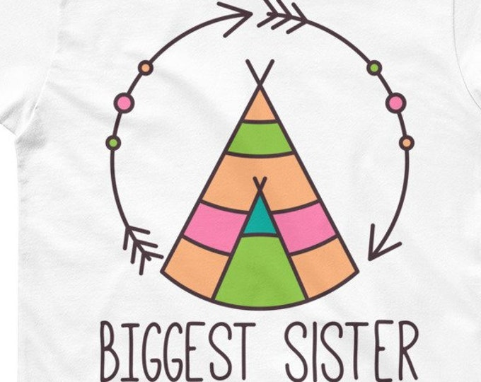Bohemian Style Biggest Sister Sibling Outfit Shirt