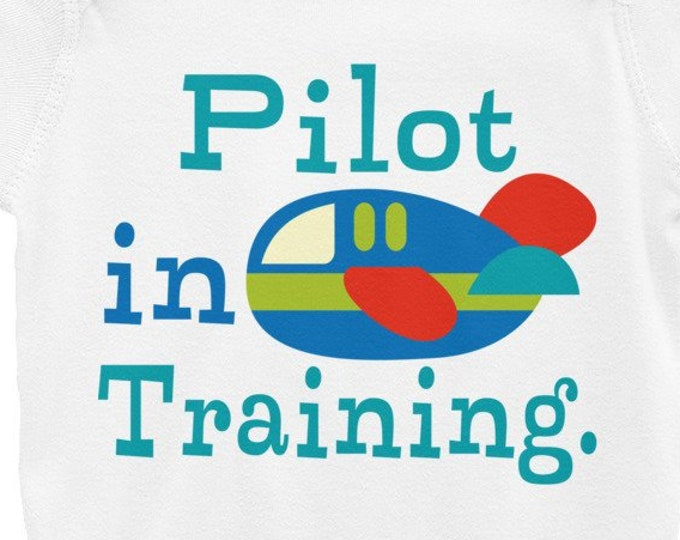Pilot in Training Infant Bodysuit, Pilot Baby   airplane baby shower, baby shower gift, pilot baby shower, baby pilot, airplane baby, pilot,