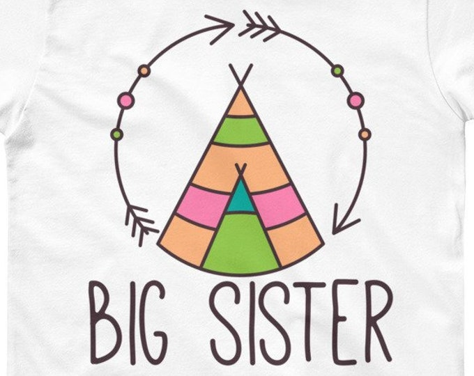 Boho Kids T-Shirt, big sis outfit, Big Sis Shirt big sis to be Youth Short Sleeve T-Shirt