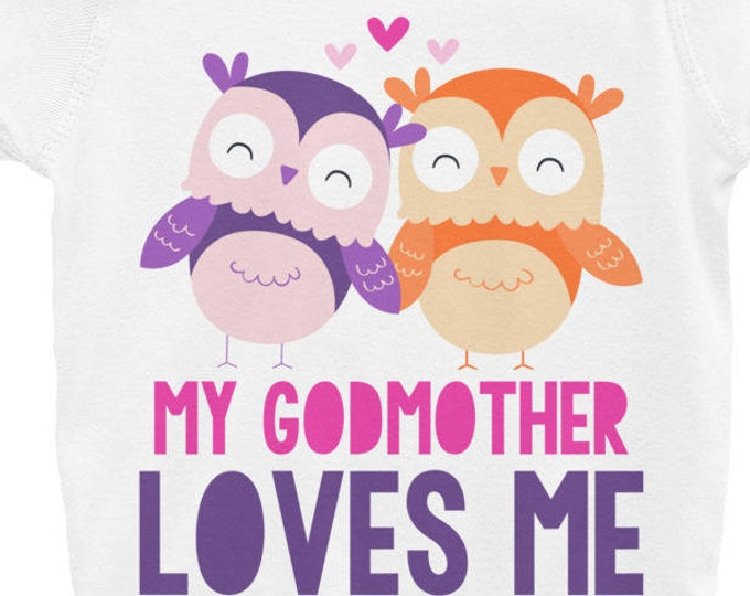 Godmother shirt - Owl always love you, owl baby clothes, Owl Nappy, Godmother shirt, woodland animals, woodland creatures, Baby Girl Onsie