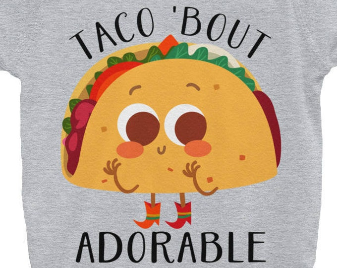 Taco Bout Adorable, Baby Onepiece,Taco Baby, Taco Baby Gift, Cute Baby Clothes, funny baby Bodysuit, taco bout cute, taco shirt, Cute Taco