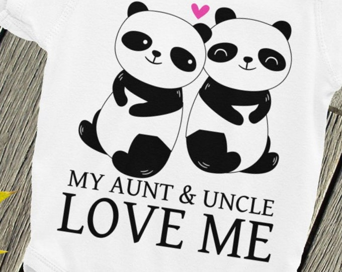 Aunt Baby bodysuit, Cute Baby One Piece, My Aunt and Uncle Love Me Newborn Baby Clothes, Aunt Gift, My Aunt Loves Me, Auntie Baby Creeper